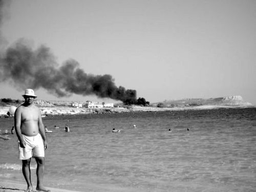 Black & White Middle East Crisis